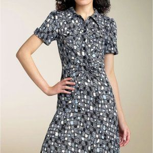 Diane Von Furstenberg Polly Anna SILK Shirt Dress